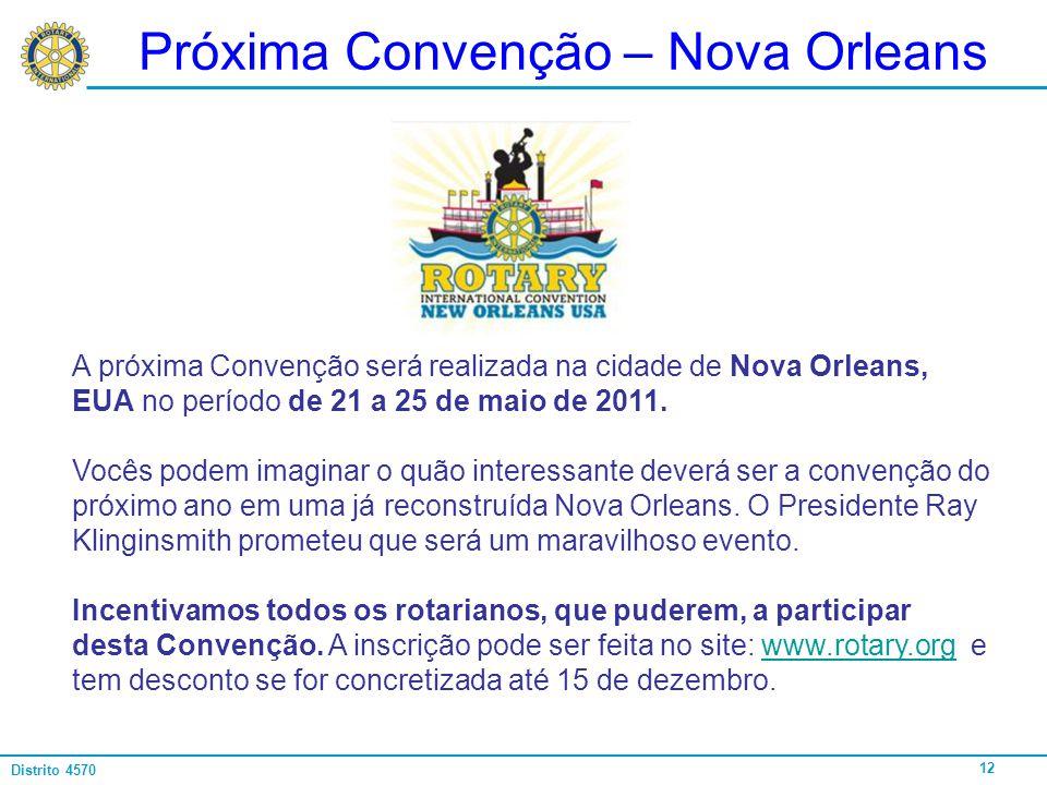 Próxima Convenção – Nova Orleans