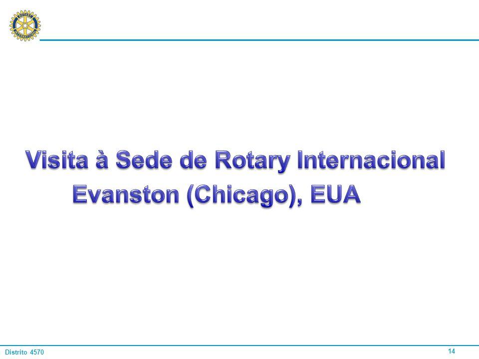 Visita à Sede de Rotary Internacional Evanston (Chicago), EUA