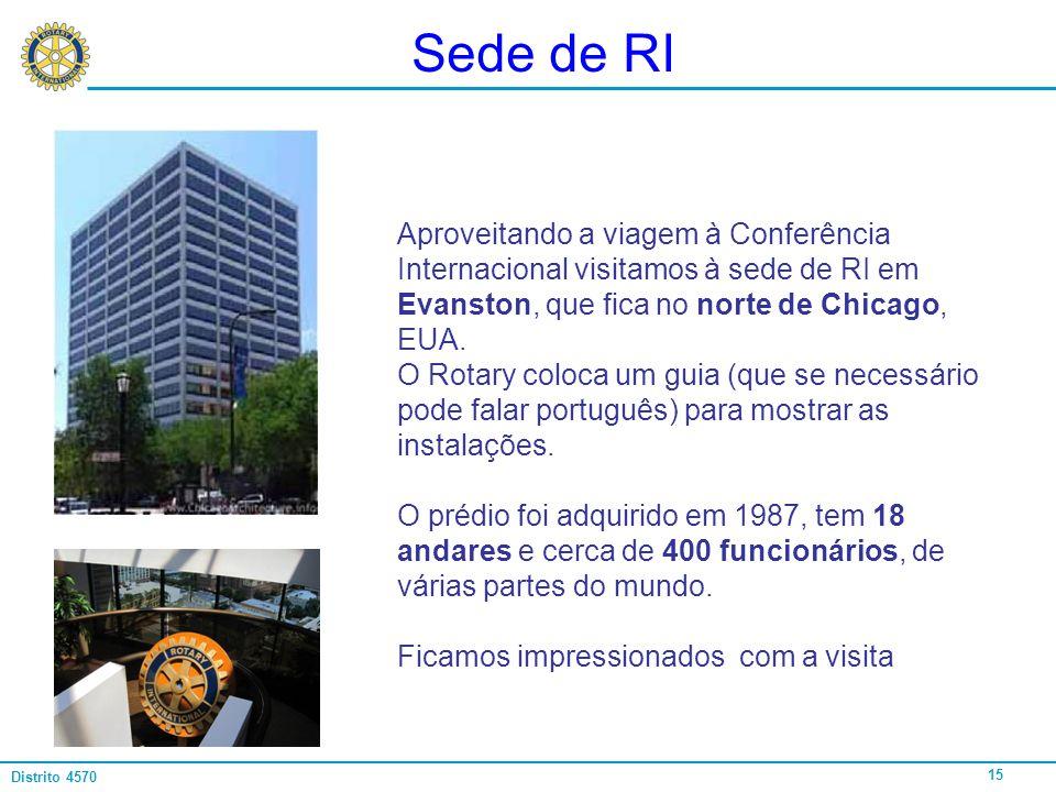 Sede de RI Aproveitando a viagem à Conferência Internacional visitamos à sede de RI em Evanston, que fica no norte de Chicago, EUA.