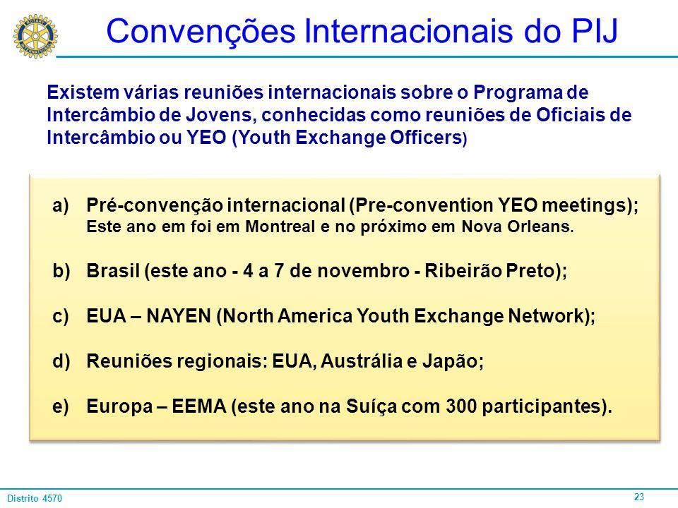 Convenções Internacionais do PIJ