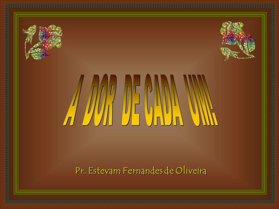 A DOR DE CADA UM! Pr. Estevam Fernandes de Oliveira