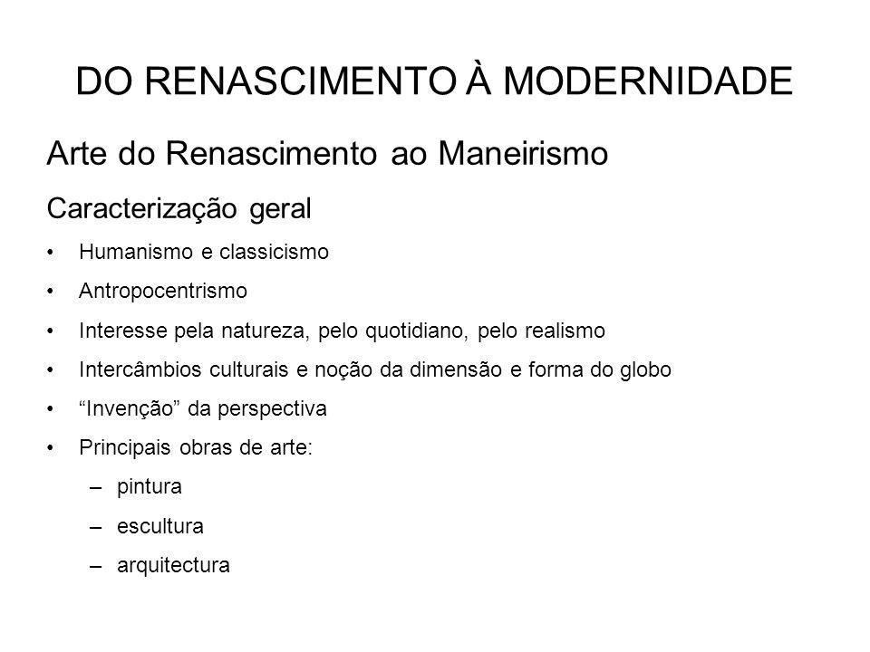 DO RENASCIMENTO À MODERNIDADE