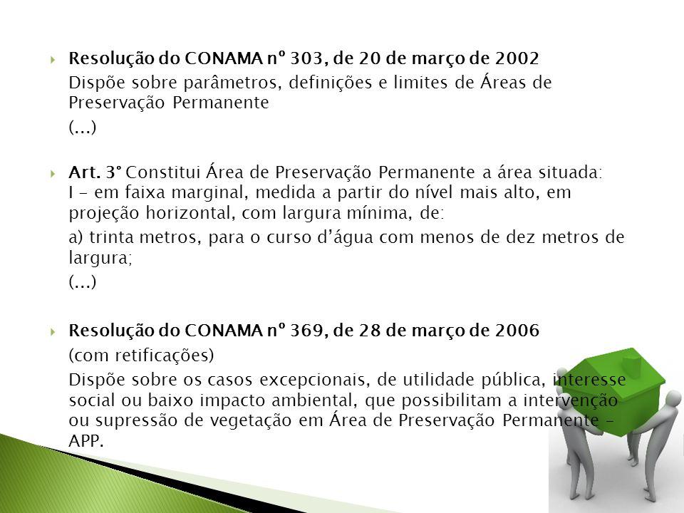 Resolução do CONAMA nº 303, de 20 de março de 2002