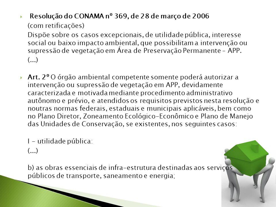 Resolução do CONAMA nº 369, de 28 de março de 2006