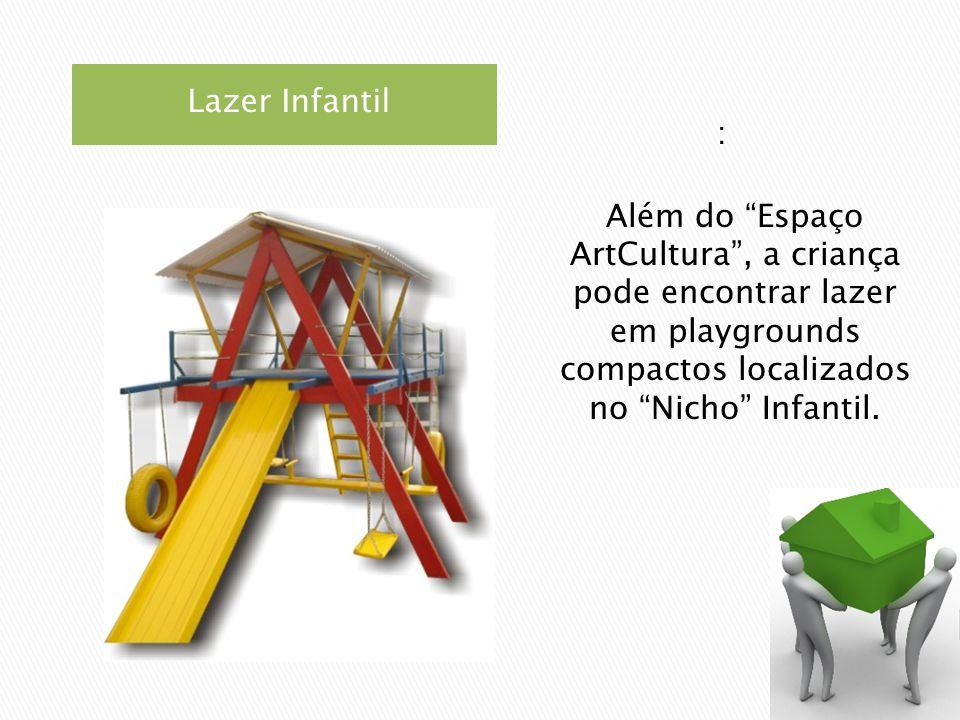 Lazer Infantil : Além do Espaço ArtCultura , a criança pode encontrar lazer em playgrounds compactos localizados no Nicho Infantil.
