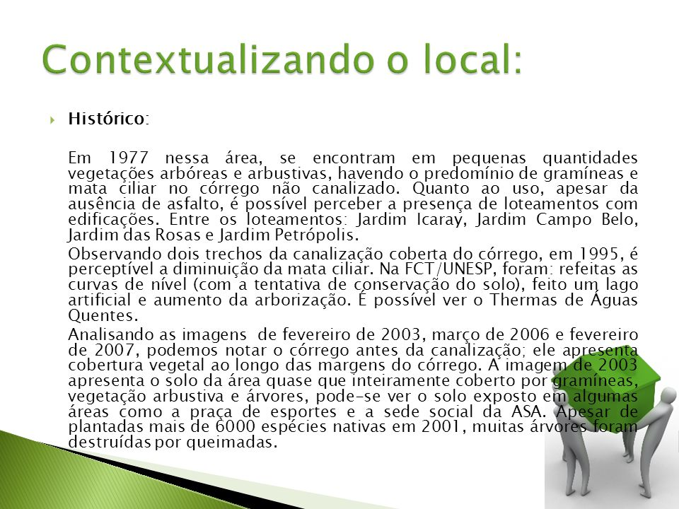 Contextualizando o local: