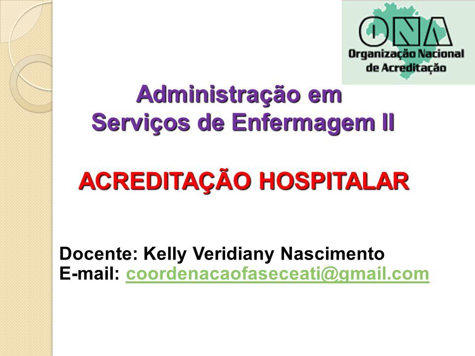 Administração em Serviços de Enfermagem II