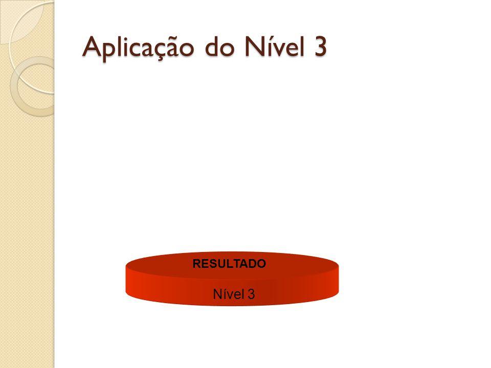 Aplicação do Nível 3 Nível 3 RESULTADO