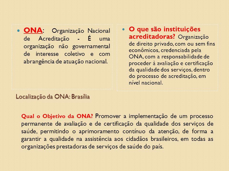 Localização da ONA: Brasília