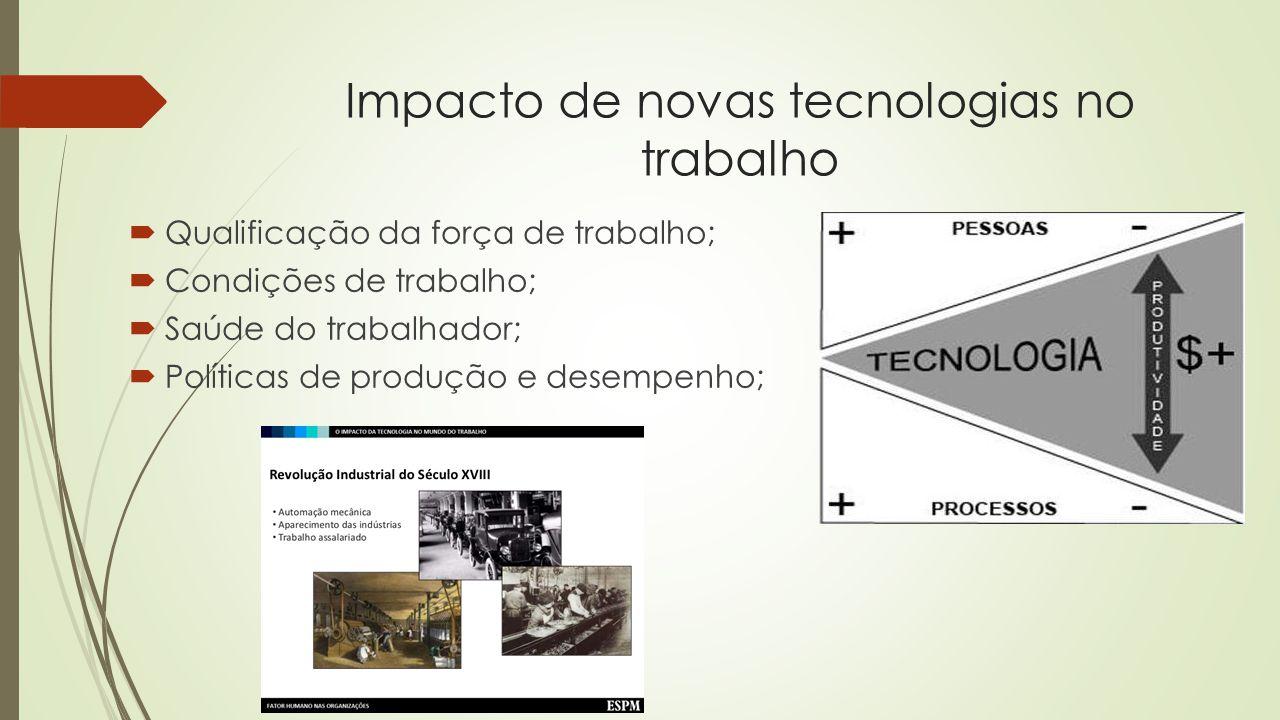 Impacto de novas tecnologias no trabalho