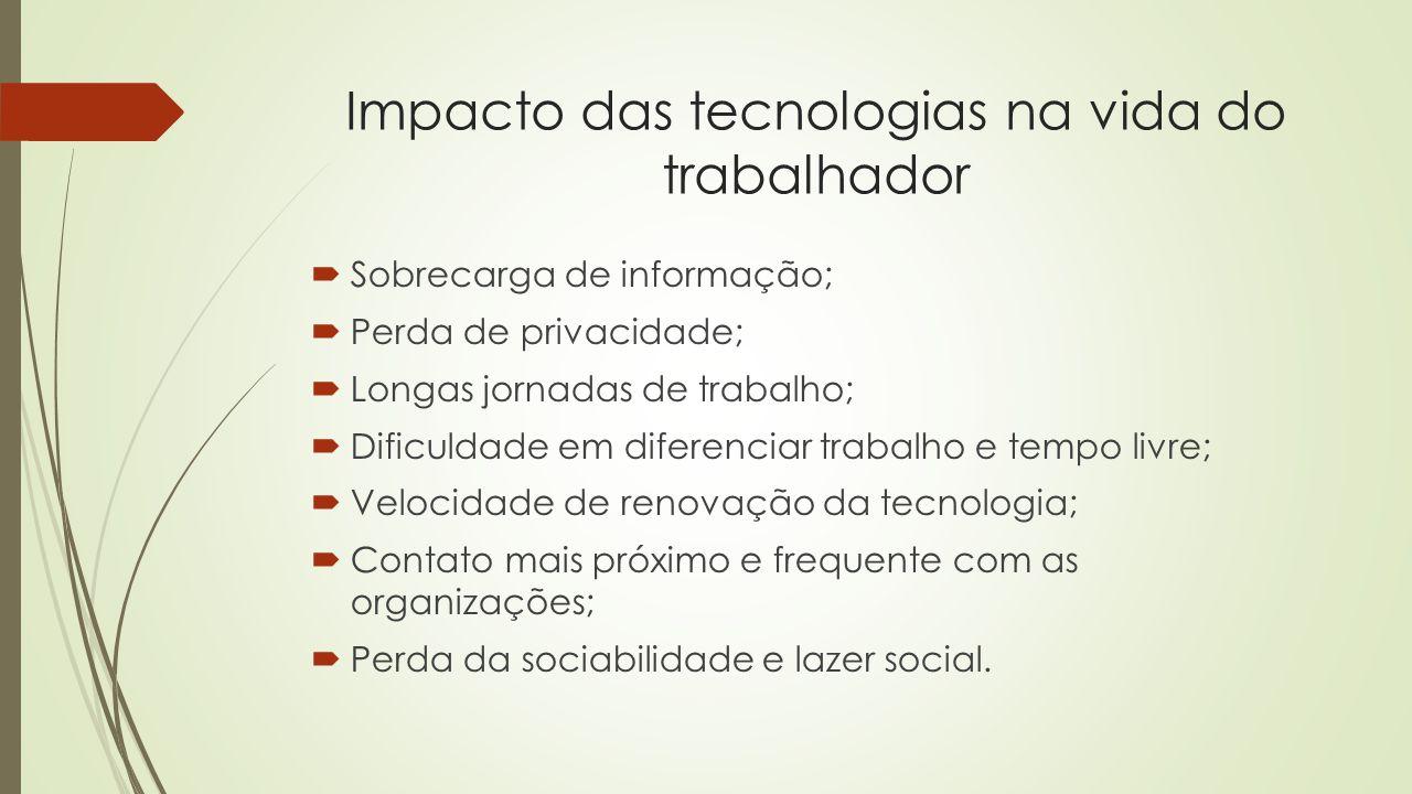 Impacto das tecnologias na vida do trabalhador