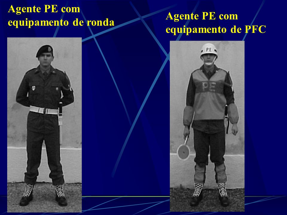 Agente PE com equipamento de ronda