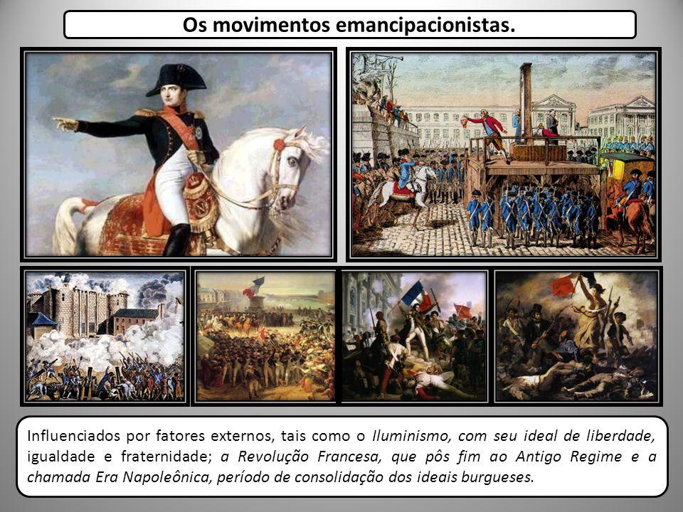Os movimentos emancipacionistas.