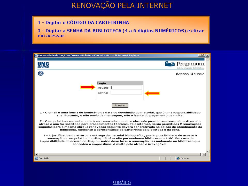 RENOVAÇÃO PELA INTERNET