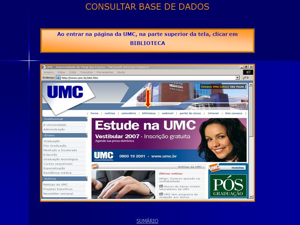 CONSULTAR BASE DE DADOS