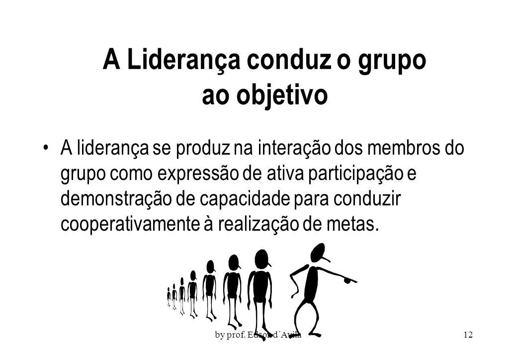 A Liderança conduz o grupo ao objetivo