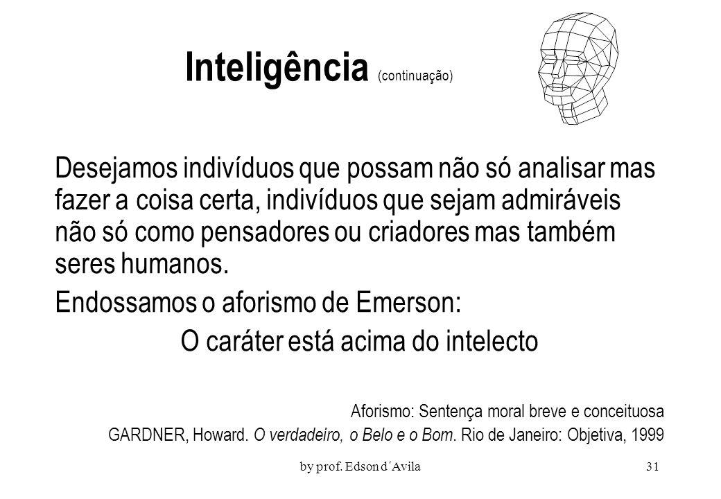 Inteligência (continuação)
