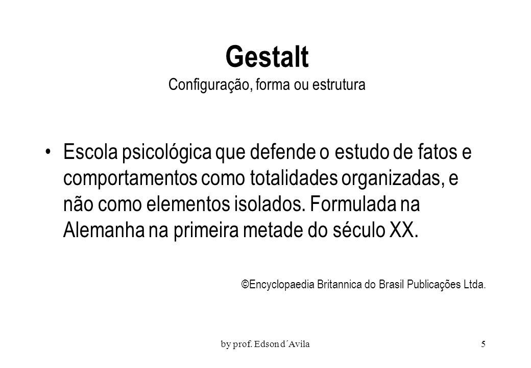 Gestalt Configuração, forma ou estrutura