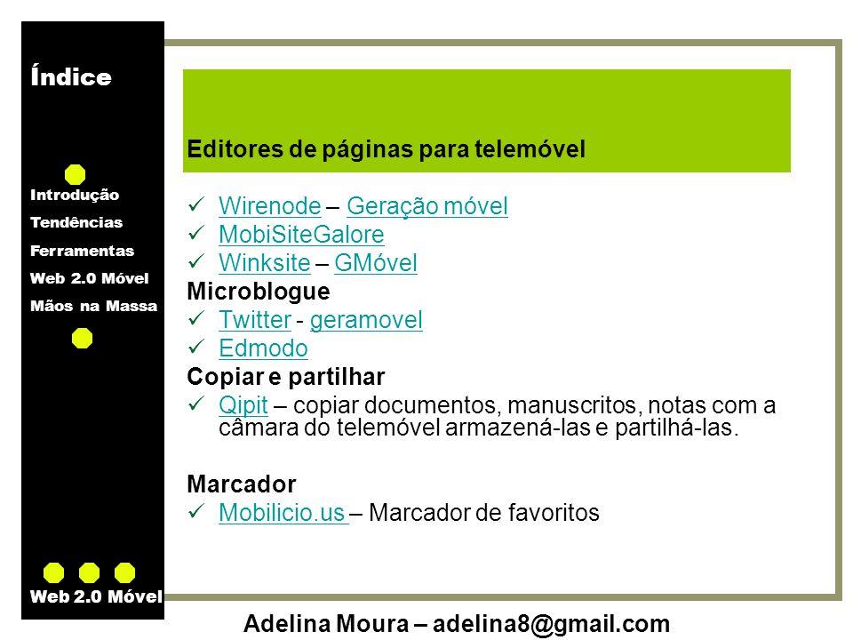 Editores de páginas para telemóvel