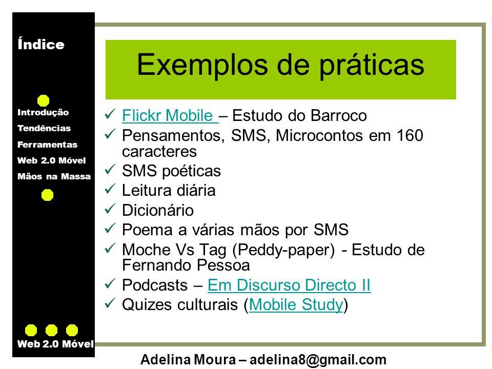 Exemplos de práticas Flickr Mobile – Estudo do Barroco