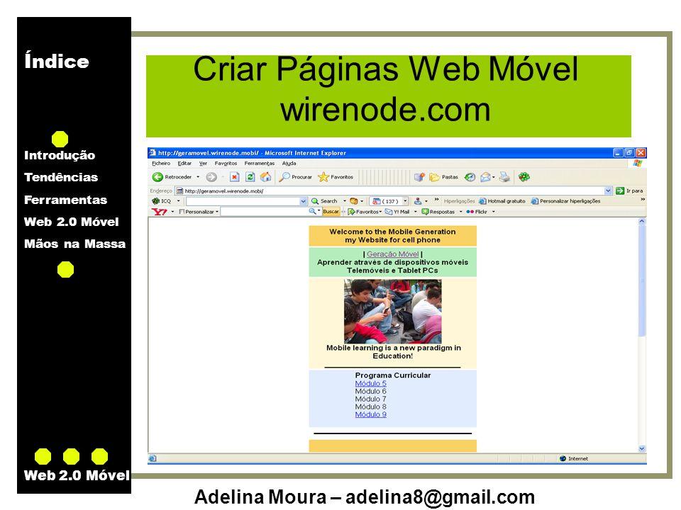 Criar Páginas Web Móvel wirenode.com
