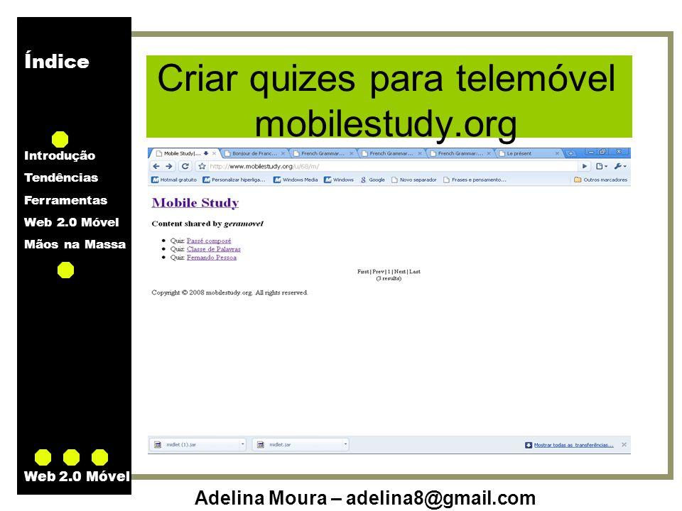 Criar quizes para telemóvel mobilestudy.org