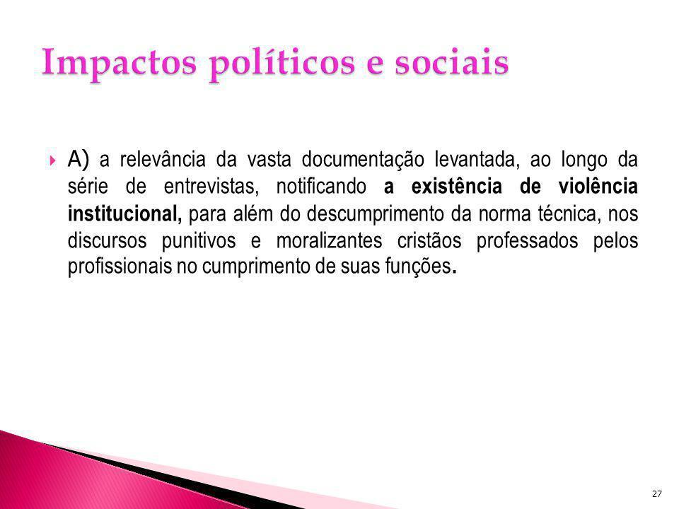Impactos políticos e sociais