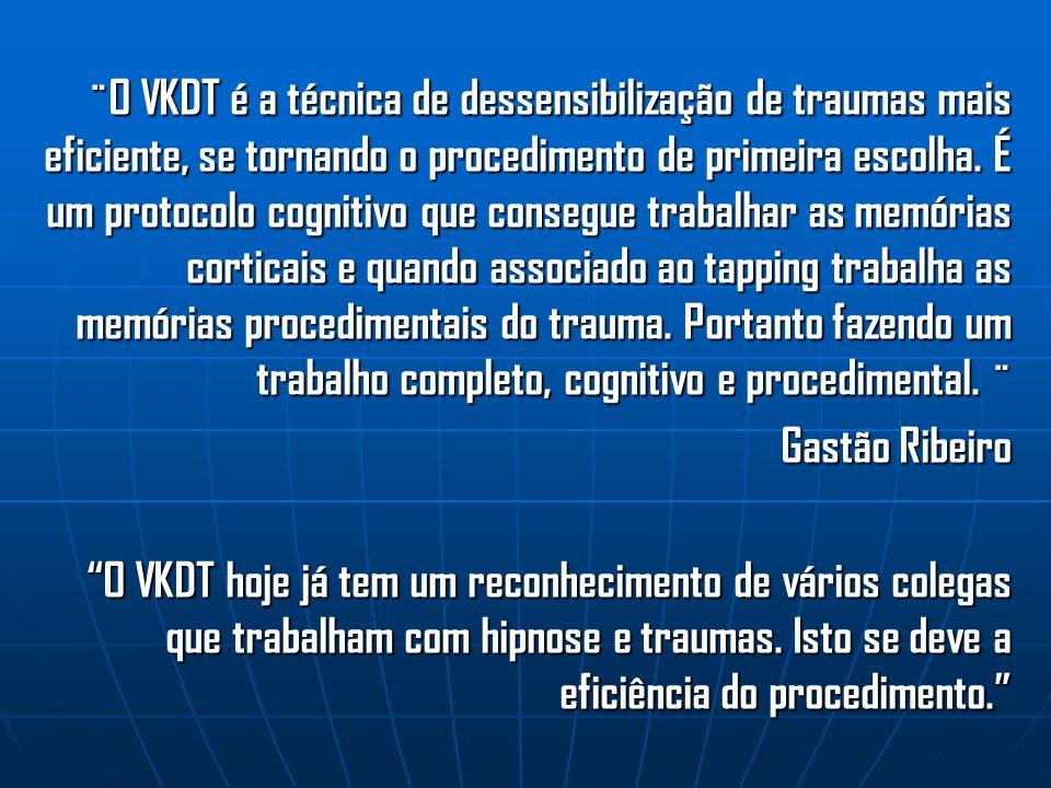 ¨O VKDT é a técnica de dessensibilização de traumas mais eficiente, se tornando o procedimento de primeira escolha. É um protocolo cognitivo que consegue trabalhar as memórias corticais e quando associado ao tapping trabalha as memórias procedimentais do trauma. Portanto fazendo um trabalho completo, cognitivo e procedimental. ¨