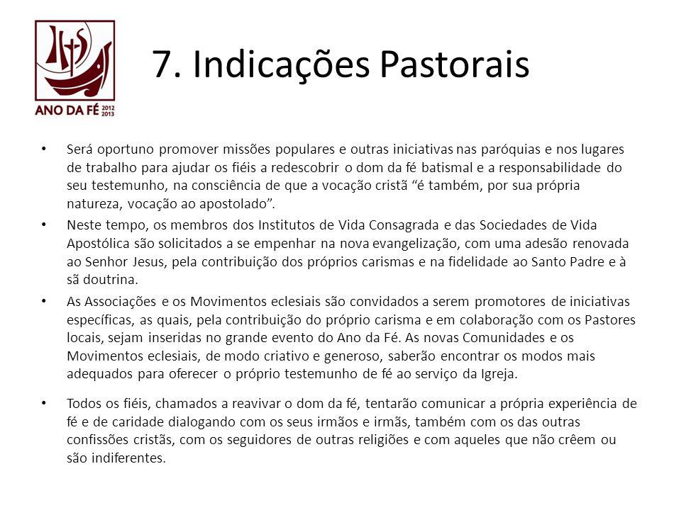 7. Indicações Pastorais