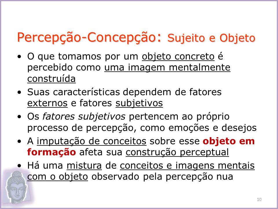 Percepção-Concepção: Sujeito e Objeto