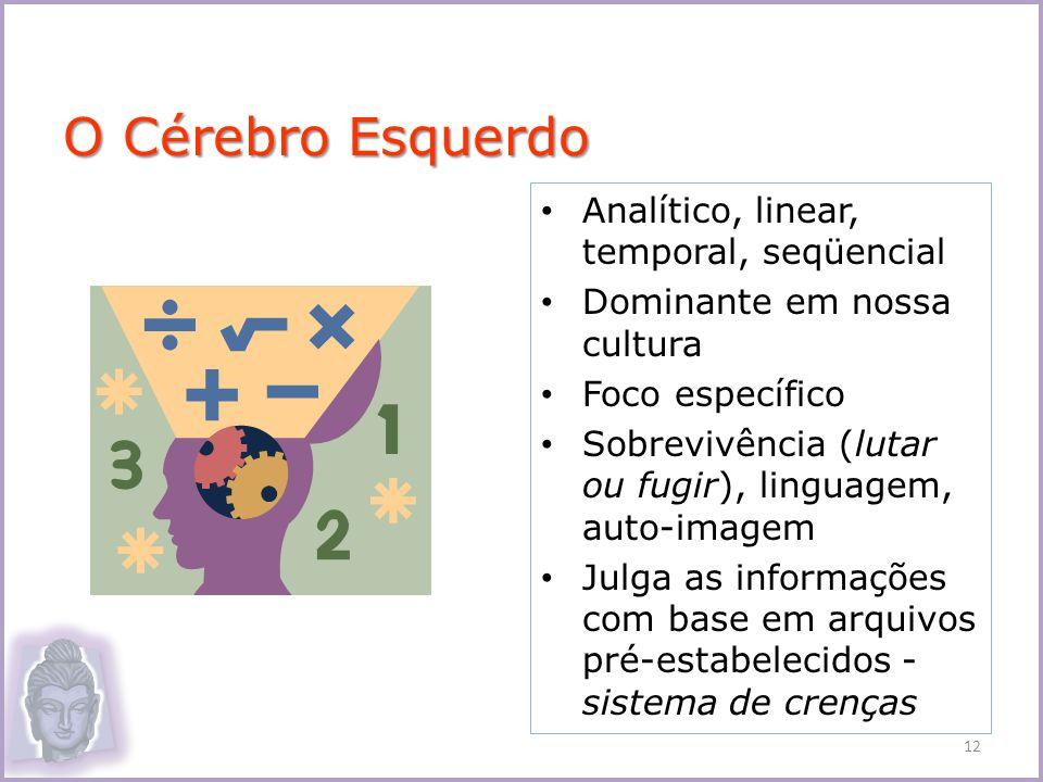 O Cérebro Esquerdo Analítico, linear, temporal, seqüencial