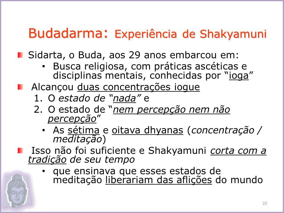 Budadarma: Experiência de Shakyamuni