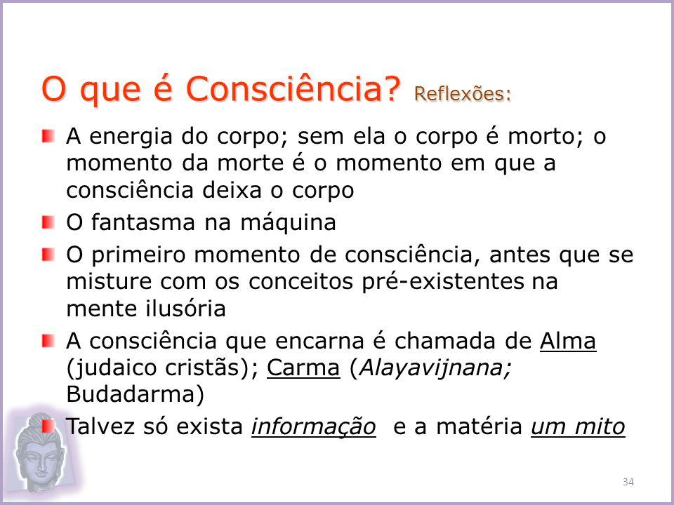 O que é Consciência Reflexões:
