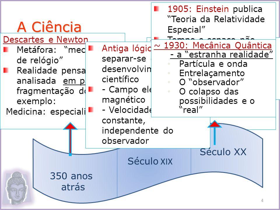A Ciência Século XX Século XIX 350 anos atrás