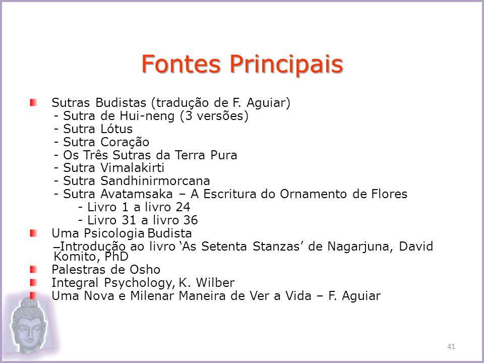 Fontes Principais Sutras Budistas (tradução de F. Aguiar)