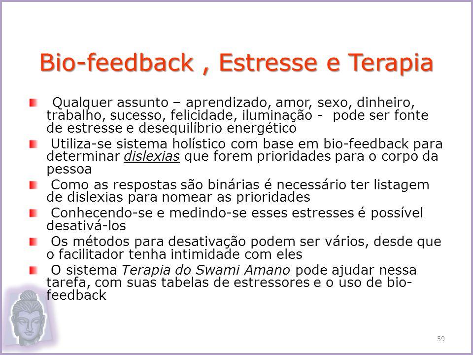Bio-feedback , Estresse e Terapia