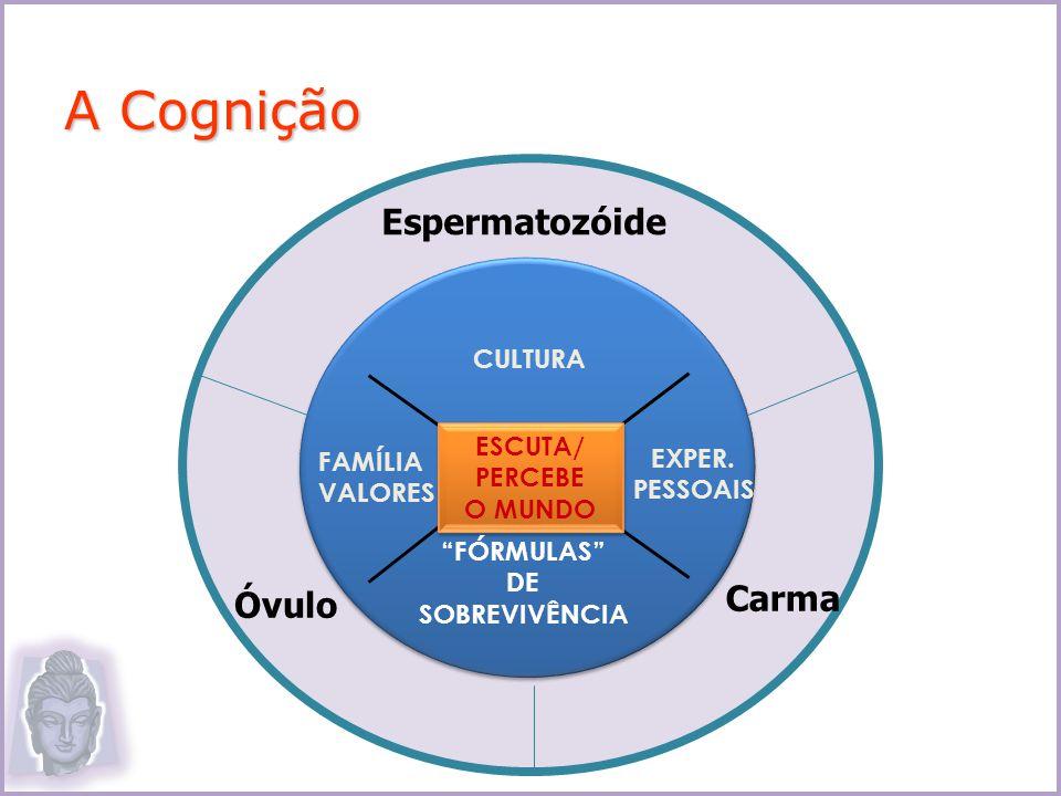 A Cognição Espermatozóide Carma Óvulo CULTURA FAMÍLIA VALORES ESCUTA/