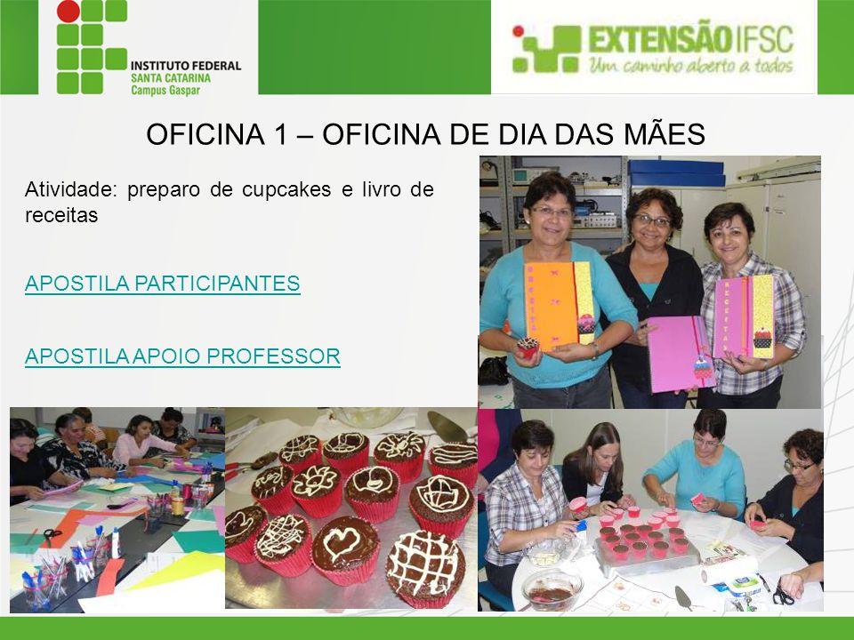 OFICINA 1 – OFICINA DE DIA DAS MÃES