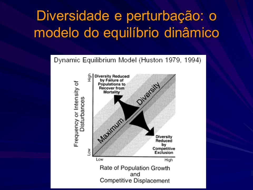 Diversidade e perturbação: o modelo do equilíbrio dinâmico