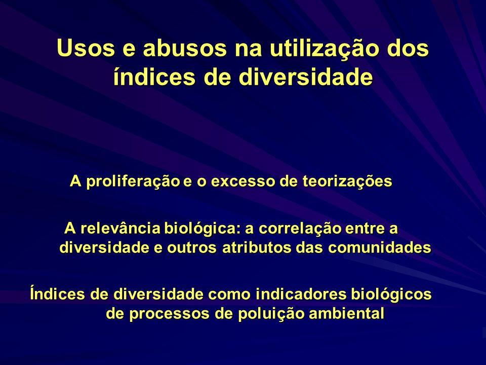 Usos e abusos na utilização dos índices de diversidade