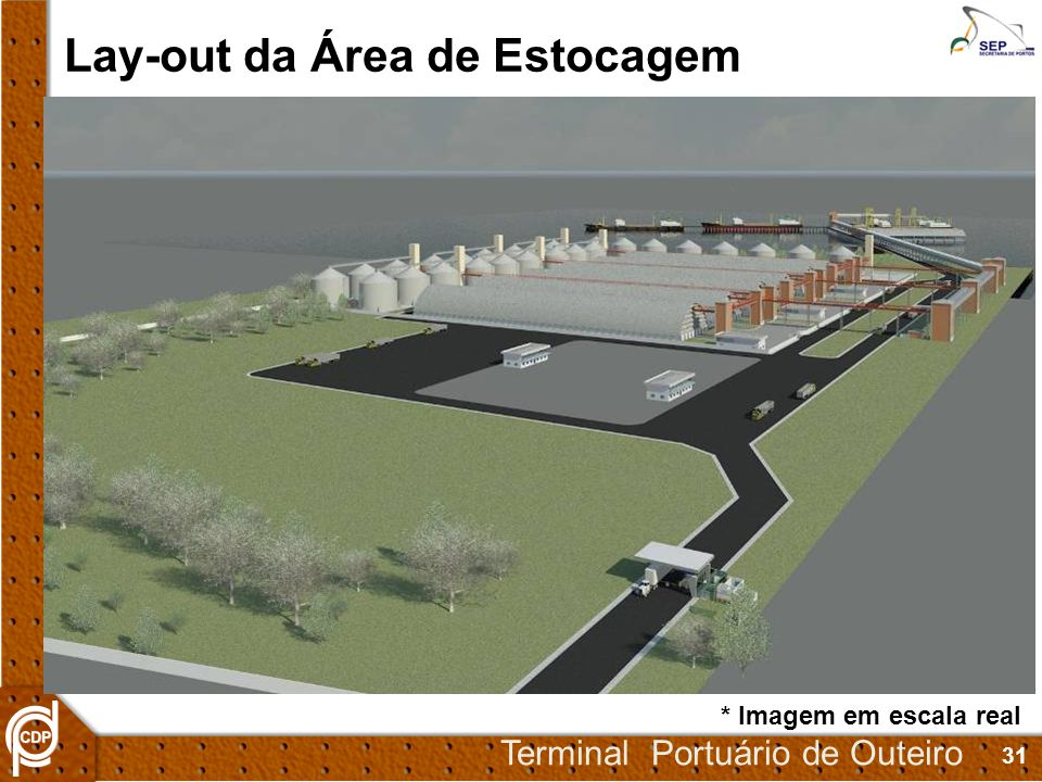 Lay-out da Área de Estocagem
