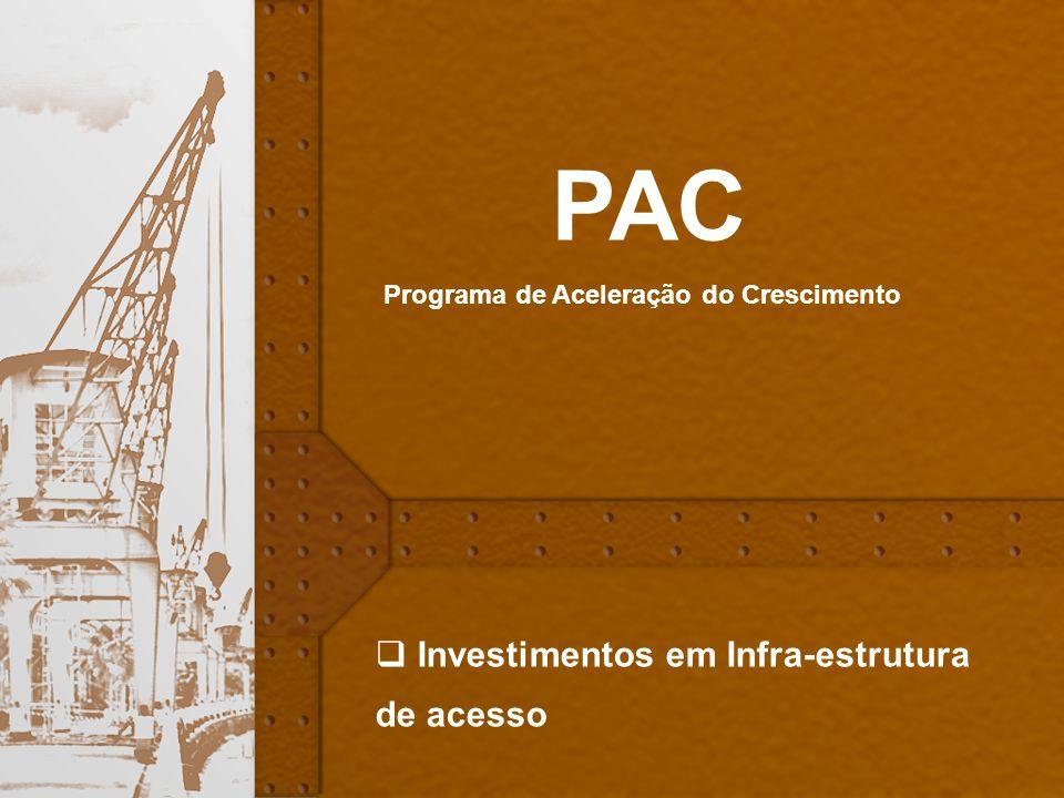 PAC Investimentos em Infra-estrutura de acesso