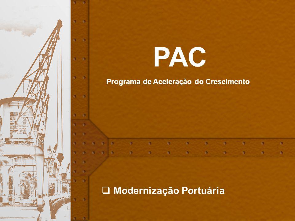 PAC Programa de Aceleração do Crescimento Modernização Portuária