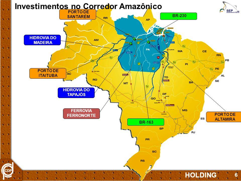 Investimentos no Corredor Amazônico