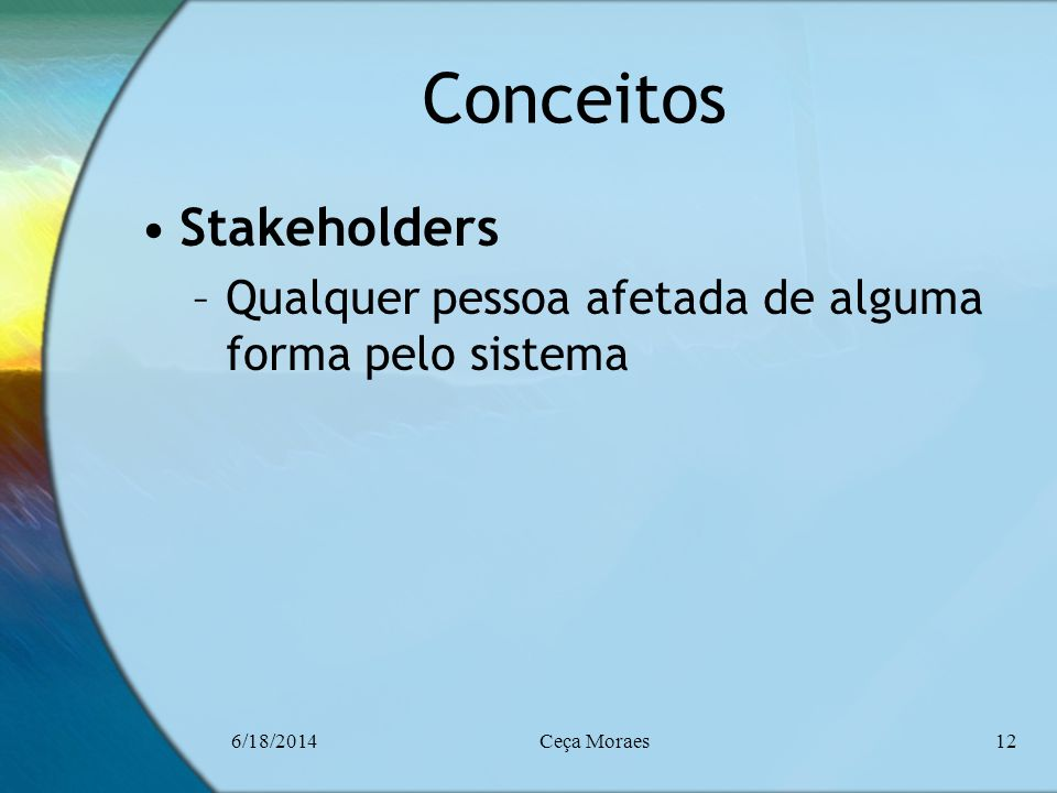 Conceitos Stakeholders