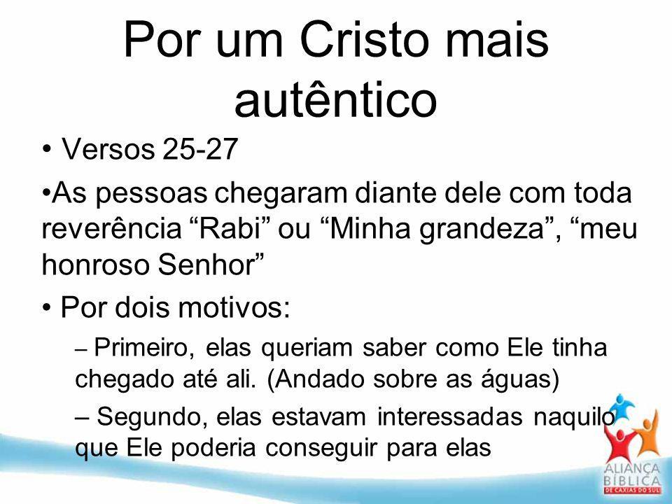 Por um Cristo mais autêntico