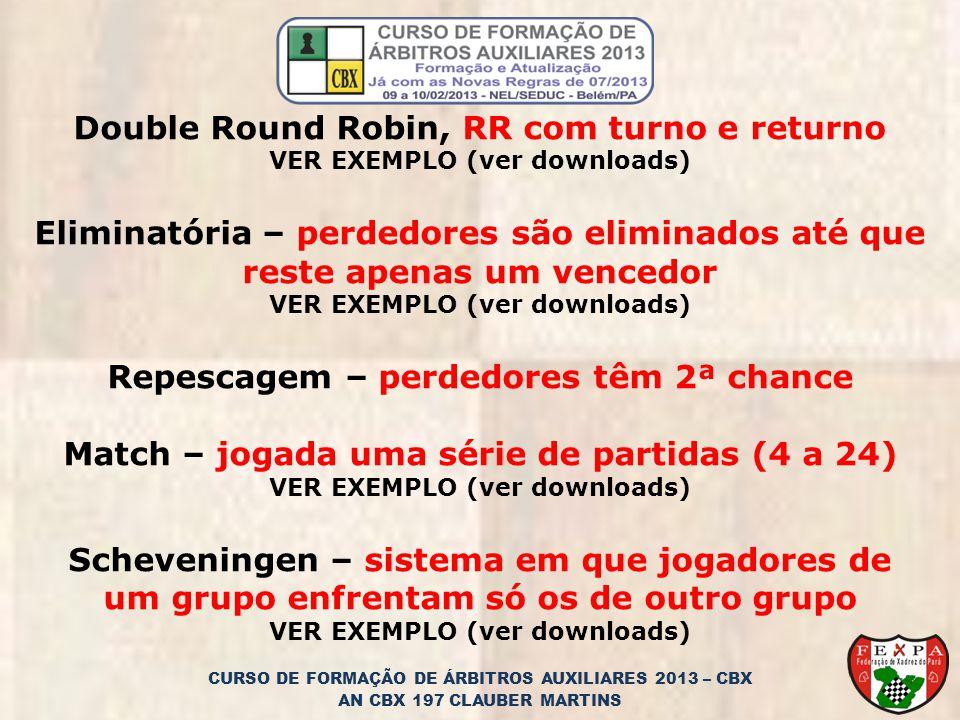 Double Round Robin, RR com turno e returno