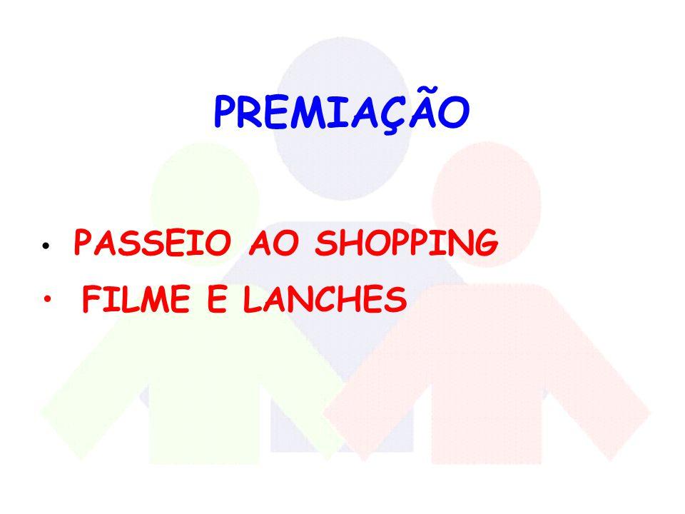 PREMIAÇÃO PASSEIO AO SHOPPING FILME E LANCHES