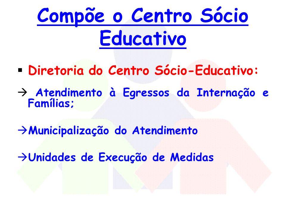 Compõe o Centro Sócio Educativo