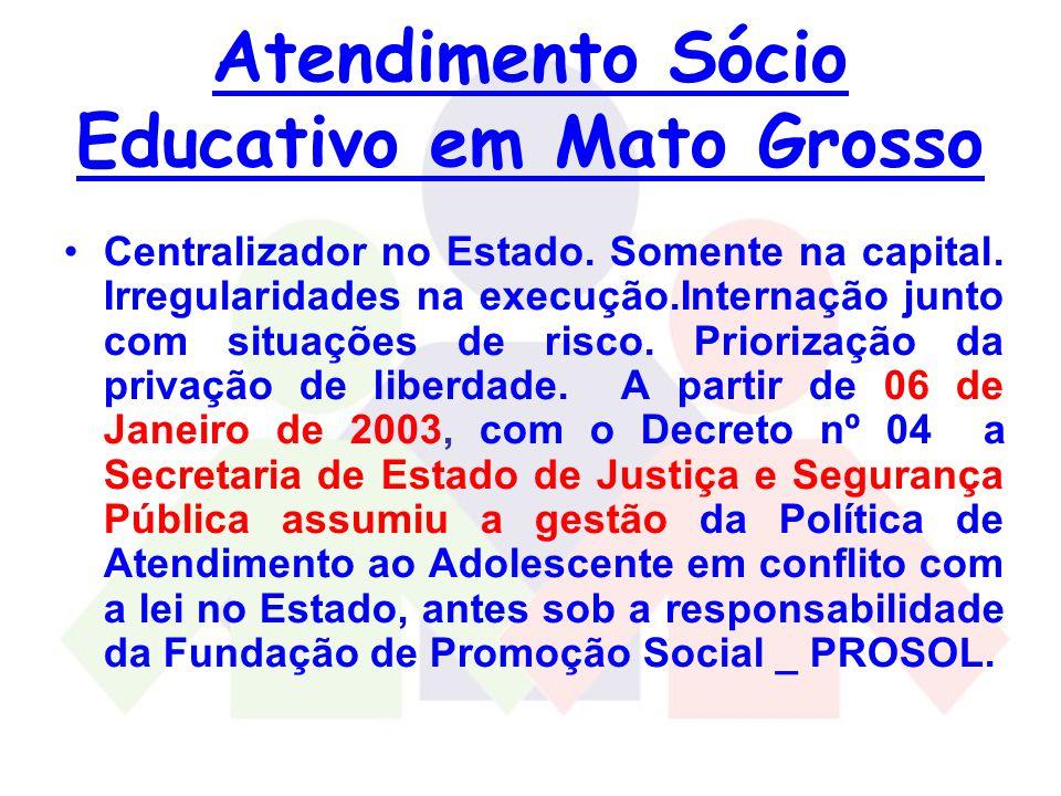 Atendimento Sócio Educativo em Mato Grosso